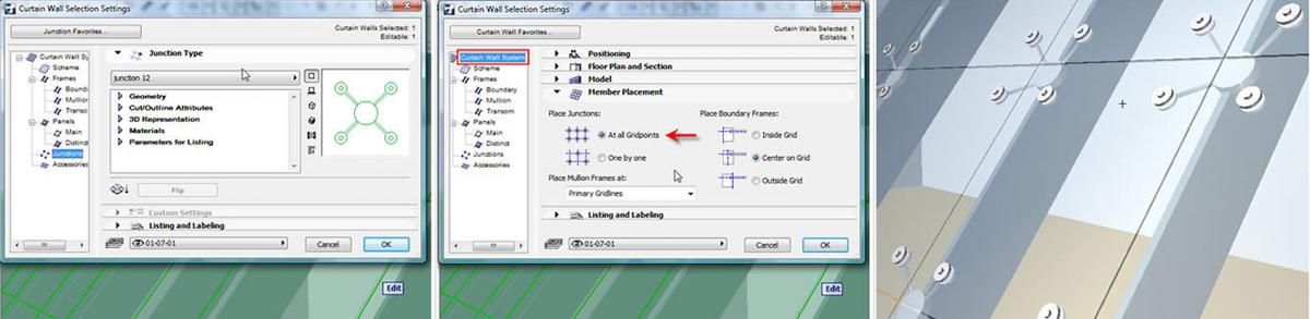 Mastering ArchiCAD\'s Curtain Wall Accessory and Junction Placement ...