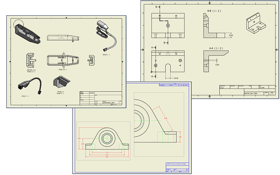 drawing autodesk inventor standards with style cadalyst rh cadalyst com Standard Drafting Views ISO Drafting Standards Book