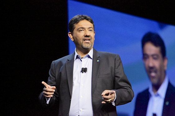 Amar Hanspal, senior vice-president of products, kicked off the Product Innovation keynote session at Autodesk University 2016.