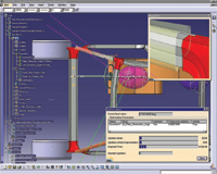 Figure 6 (left). CATIA lets you view optimum possible shapes based on a parameter.