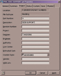 Figure 3. You can assign part numbers in the Project tab of the Properties dialog box.