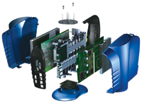 Figure 1. COMPASS Product Design designed the SOMAport Subscriber Terminal using SolidWorks software.