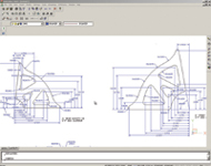 Figure 6. The SolidWorks DWGEditor lets you edit DWG files in their native format with an AutoCAD-like user interface. No format change is necessary, and all changes are saved in the native DWG format.