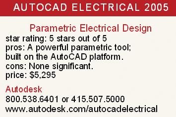 AutoCAD Electrical 2005   Cadalyst