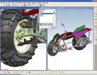 Figure 5. NX 3 s new Assembly Arrangements feature shows model components in different positions, regardless of the applied constraints. Viewing different Assembly Arrangements is made easier by another new NX feature, the ability to use multiple graphics windows.