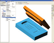 Figure 3. Alibres Design Boolean features makes mold design easy.