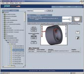 Figure 2. PowerPARTS from Web2CAD is an extensive library with CAD drawings of parts from well-known manufacturers.