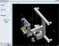 The Informative Graphics ModelPress Viewer v4.3 demonstrates its measurement feature on one of our AutoCAD test drawings, which was published as a 3DF file using ModelPublisher.