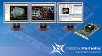 Figure 1. The Matrox Parhelia PCI 256MB graphics card is suited for AEC, GIS, and mechanical CAD use.