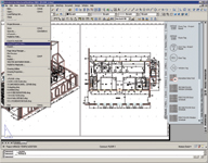 Figure 1. Autodesk Architectural Desktop 2005 outputs construction documentation in standard 2D format such as plans, elevations, details, schedules, and specifications.