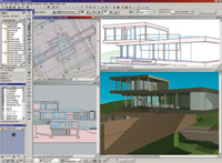Figure 2. Graphisoft ArchiCAD, in combination with the RCC database and Timberline Software (<a href=