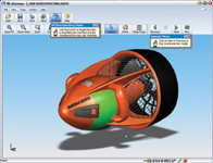 The SolidWorks eDrawings viewer shows a file created from one of our test drawings.
