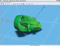 OKYZ Raider 3D Capture at work capturing one of our SolidWorks test models.