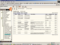 Figure 1: In the Constructware dashboard, user-defined budget columns and calculations track costs on a project.