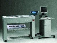 The Océ TCS400 wide-format scanner includes its own dedicated computer system and offers outstanding color fidelity and quality.