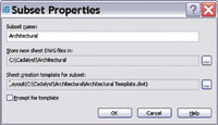 Figure 3. Subset properties provide different storage and template paths and files that you can use for disciplines in a sheet set.