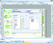 Adobe Acrobat PDFMaker dialog box appears in AutoCAD 2004 with wilhome.dwg open. Here you can select the layers you want included in the final PDF file.