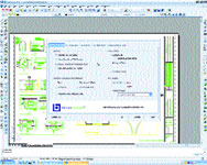 AutoCAD 2004 displays the Bluebeam Pushbutton PDF dialog box for selecting PDF creation options.