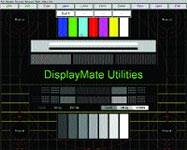 DisplayMate 2.10, Multimedia Edition displays its master test pattern screen.