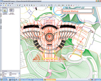 Figures 1. Autodesk DWF Composer provides tools to view and mark up design files and integrate the changes directly into the AutoCAD 2005 family of products.