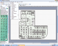 With Microsoft Office Visio 2003 Professional, you can lay out a floor plan