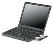 IBM ThinkPad T42p mobile workstation posted impressive times in our battery run-down tests.