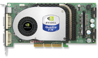 The NVIDIA Quadro FX 4000 graphics card is a new top-of-the-line choice for AGP 8X workstation performance.