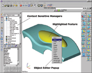 Figure 1. The Object Editor in VX Corps VX CAD/CAM (<a href=