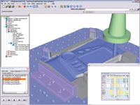 Figure 8. VX CAD/CAM v10 offers many CAM enhancements including a new 2–5-axis postprocessor with a substantial built-in library of machines new 5-axis toolpaths, and enhanced toolpath transformation tools
