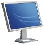 "The SyncMaster 243T is a new 24"" LCD monitor from Samsung that pivots for portrait and landscape orientation."