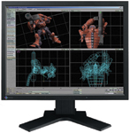"The Eizo FlexScan L885, a 20.1"" LCD monitor with a 1600X1200 native resolution, takes up less room than you'd expect, even from a flat-panel display."