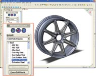 Figure 4. CAD/analysis integration lets you enter material properties during the initial modeling stage.