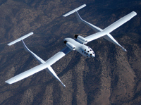 Top-down view of White Knight. (Photos courtesy of Scaled Composites, LLC.)