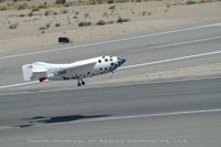 Figure 2. SpaceShipOne makes a safe return after a history-making flight. (Image courtesy of Scaled Composites, LLC.)