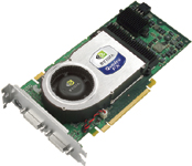 The NVIDIA Quadro FX 4400 PCI Express graphics accelerator supports SLI technology that lets two cards work in tandem.