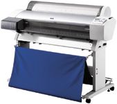 Epson's Stylus Pro 9600 achieves production-quality speeds of 87 square feet per hour.