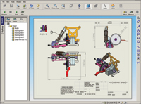 Figure 3. SolidWorks DWGviewer presents design information ranging from 2D drawings to shaded, interactive 3D models and assemblies.