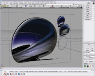 Figure 3. Using software like Alias StudioTools, you can start a design simply by sketching, then trace the sketch to create a 3D model.