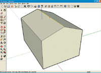 Figure 2. Three simple steps are all it takes to create the basic shape of a model. Additional shapes and components can be imported or downloaded from the Web.