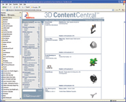 Figure 1. With SolidWorks 3D Content Central, you have access to millions of native SolidWorks files that you can bring directly into your designs.