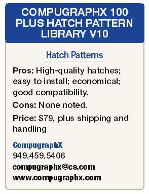 100 Plus Hatch Pattern Library V10-365 Hatch Patterns for