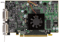 The P650 PCIe 128, Matrox s first PCI Express card, offers DualHead support for using two digital or analog monitors at a time.
