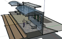 Figure 5. SketchUp provides a variety of rendering options, including a hand-drawn effect.