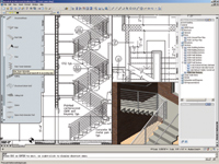 Figure 1. Autodesk Architectural Desktop 2005 uses specialized programming and routines to make AutoCAD perform as a building modeler.