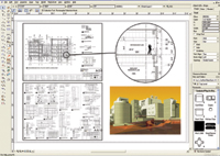 Figure 4. VectorWorks building modeling capabilities make it easy to coordinate model views.