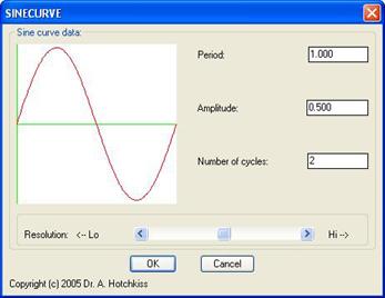 AutoLISP Solutions: Draw a Sinusoidal Curve as a Spline or Polyline