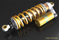 Figure 1. TurboCAD user Julian Thomas designed this motorcycle shock absorber