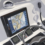 Figure 2. Location-based services are used to make it easier to navigate from one place to another. Maptech's i3 Touch Screen can be used with Marine Navigator. Image courtesy of Maptech.
