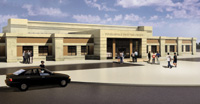 Douglasville Davis Park Recreation Center, rendered in AccuRender. Design: Mayes, Sudderth & Etheredge, Inc.
