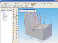Figure 3. Programs such as Solid Edge from UGS provide all sorts of capabilities to take 2D drawings and build 3D models.